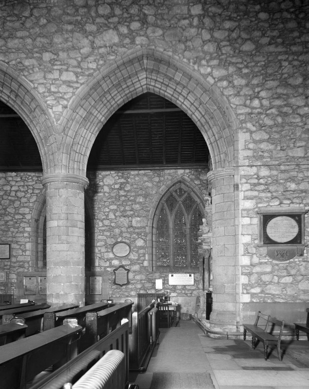 Aberdeen, Chanonry, St Machar's Cathedral, Interior. General view of West arch of South nave arcade.