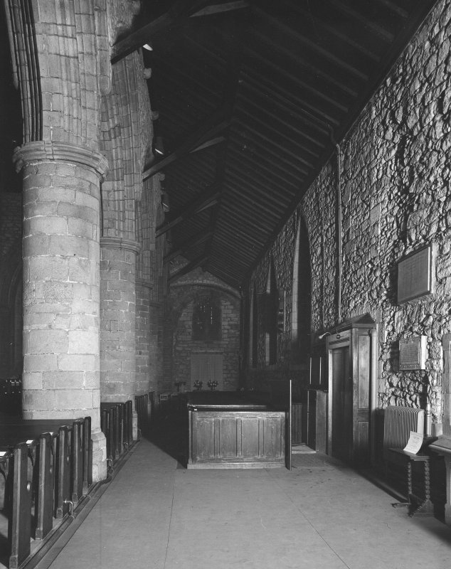 Aberdeen, Chanonry, St Machar's Cathedral, Interior. General view of South aisle from West.