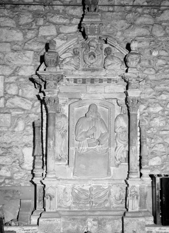 Aberdeen, Chanonry, St Machar's Cathedral, Interior. General view of tomb at West end of South aisle.