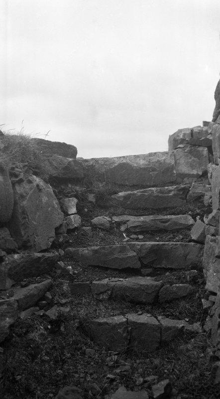 Dun Fiadhairt, detail of stair.