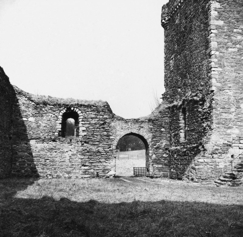 View of doorway from interior courtyard, Skipness Castle.