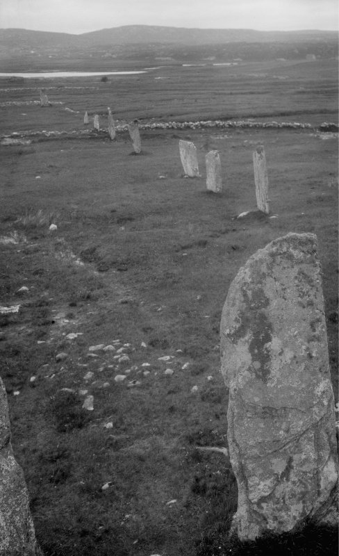 Callanish, looking north from central pillar.