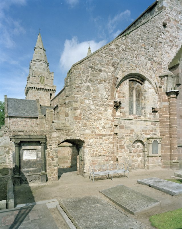 Aberdeen, Chanonry, St Machar's Cathedral. General view of East front, south arch of crossing, view from south east.