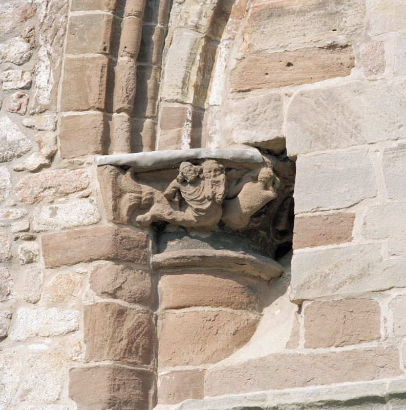Aberdeen, Chanonry, St Machar's Cathedral. General view of East front, south arch of crossing, detail of carved capital on south side of arch.