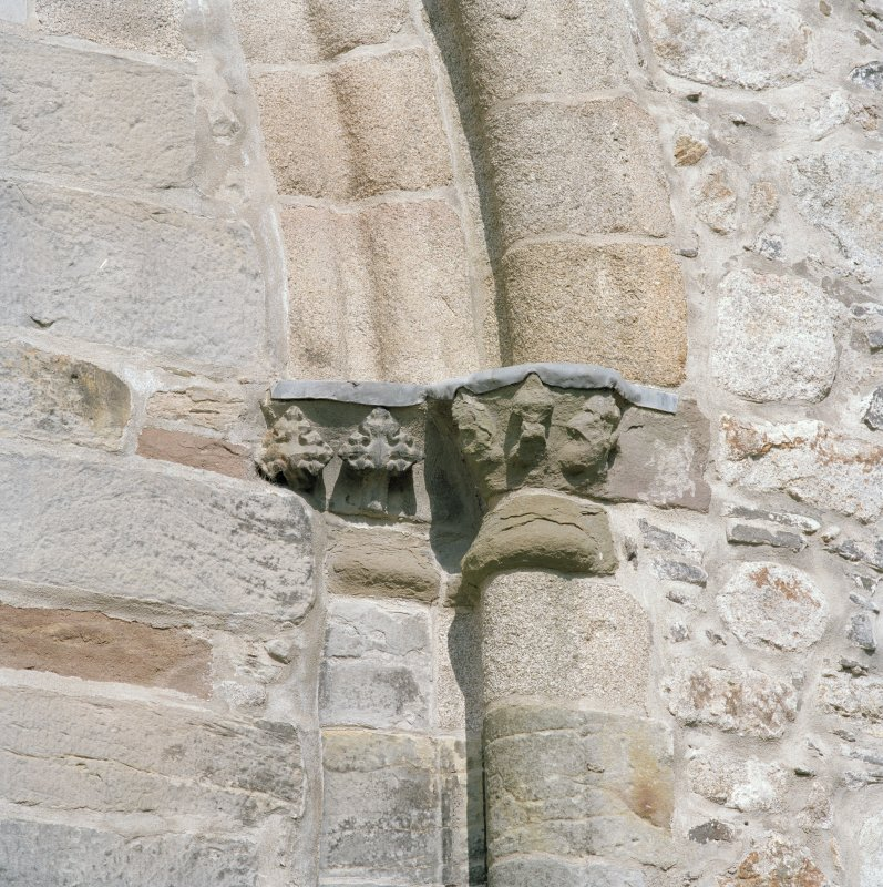 Aberdeen, Chanonry, St Machar's Cathedral. East front, north arch of crossing, detail of carved capital on north side of arch.