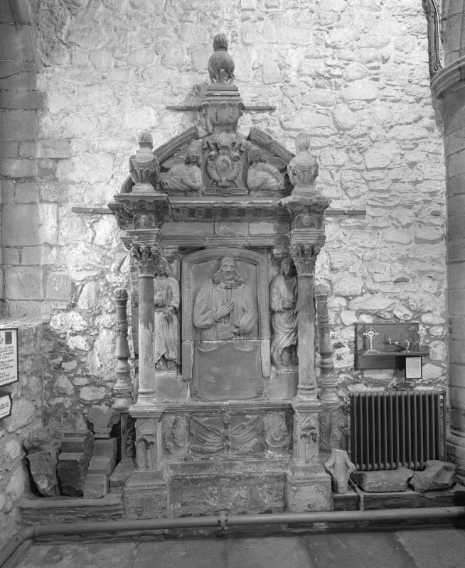 Aberdeen, Chanonry, St Machar's Cathedral, Interior. General view of monument in south west corner of cathedral.