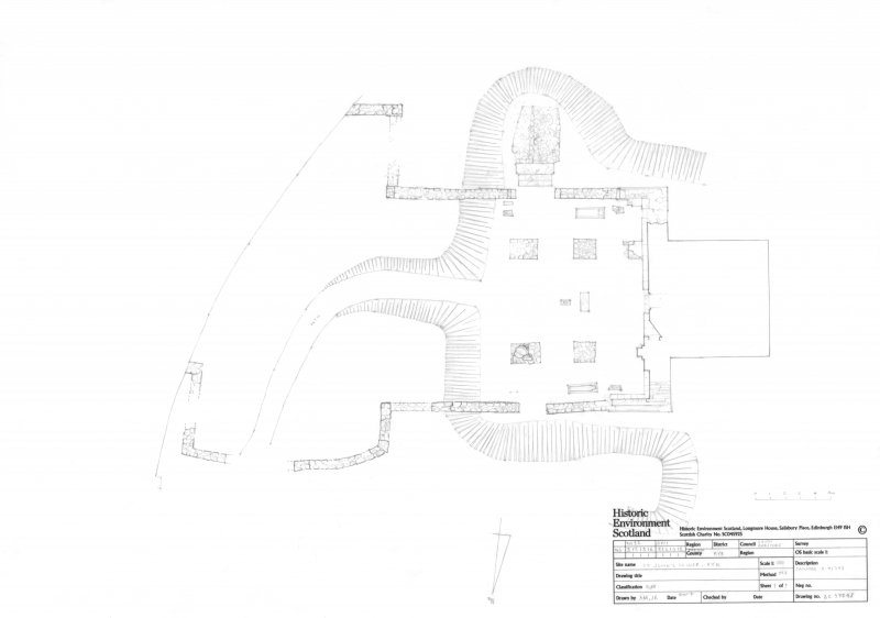 Plan of St John's tower and surrounds.