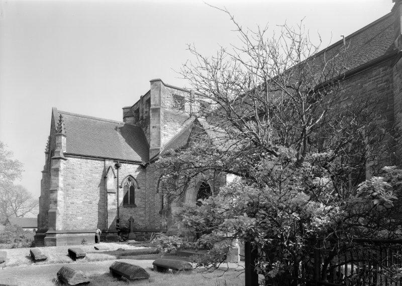 View of Inchinnan Old Parish Church and churchyard.