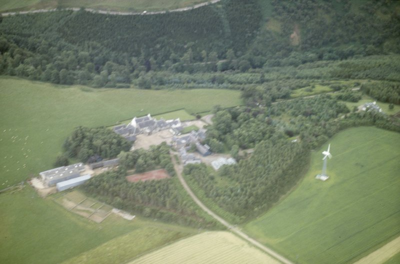 Oblique aerial view (out of focus)