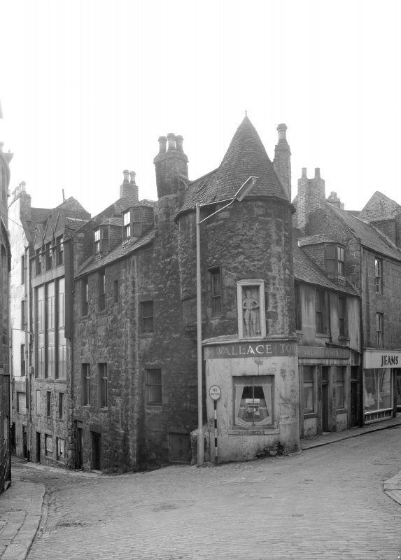General view of Wallace Tower (Benholm's Tower), Netherkirkgate, Aberdeen, from NE.