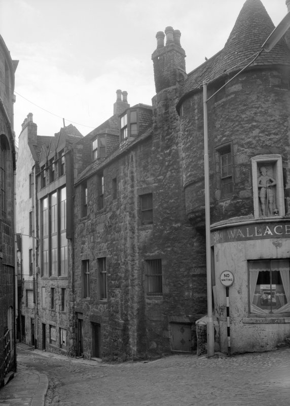General view of Wallace Tower (Benholm's Tower), Netherkirkgate, Aberdeen, from E.