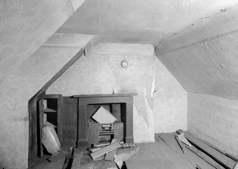 Vew of attic on top floor of Wallace Tower (Benholm's Tower), Netherkirkgate, Aberdeen.