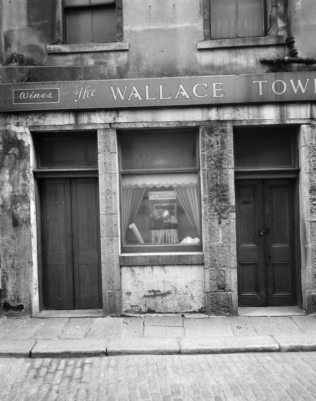 Detail of entrace to N elevation of Wallace Tower (Benholm's Tower), Netherkirkgate, Aberdeen.