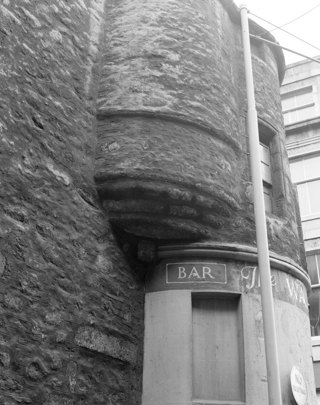 Detail of Wallace Tower (Benholm's Tower), Netherkirkgate, Aberdeen.