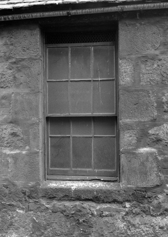 View of window, Wallace Tower (Benholm's Tower), Netherkirkgate, Aberdeen.