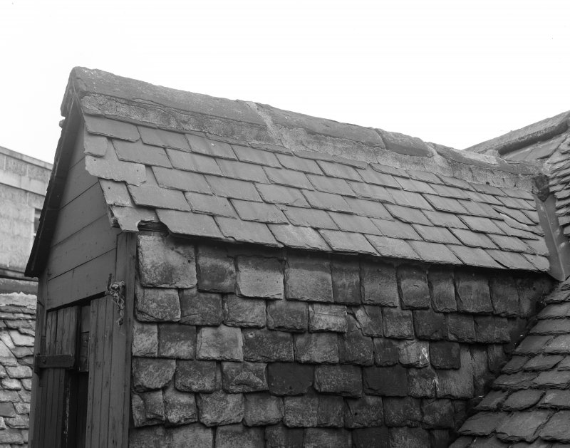 Detail of roof slating, Wallace Tower (Benholm's Tower), Netherkirkgate, Aberdeen.