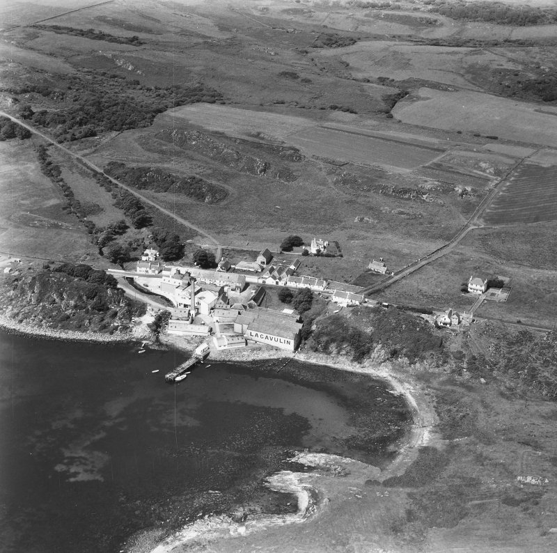 Lagavulin Distillery. Aerial photograph from South East.