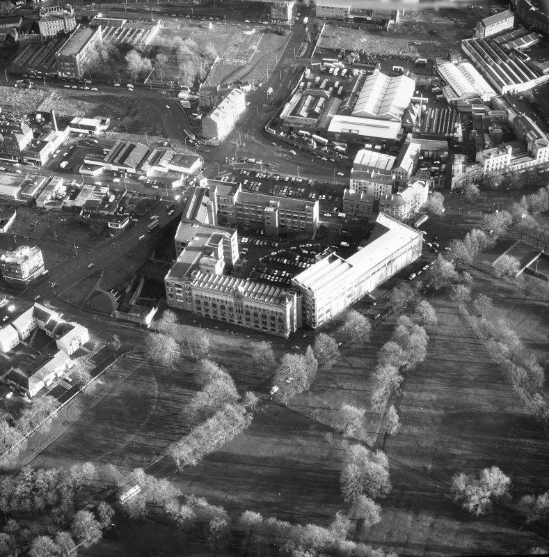 Glasgow, 63 Templeton Street, Templeton Carpet Factory. General aerial view.
