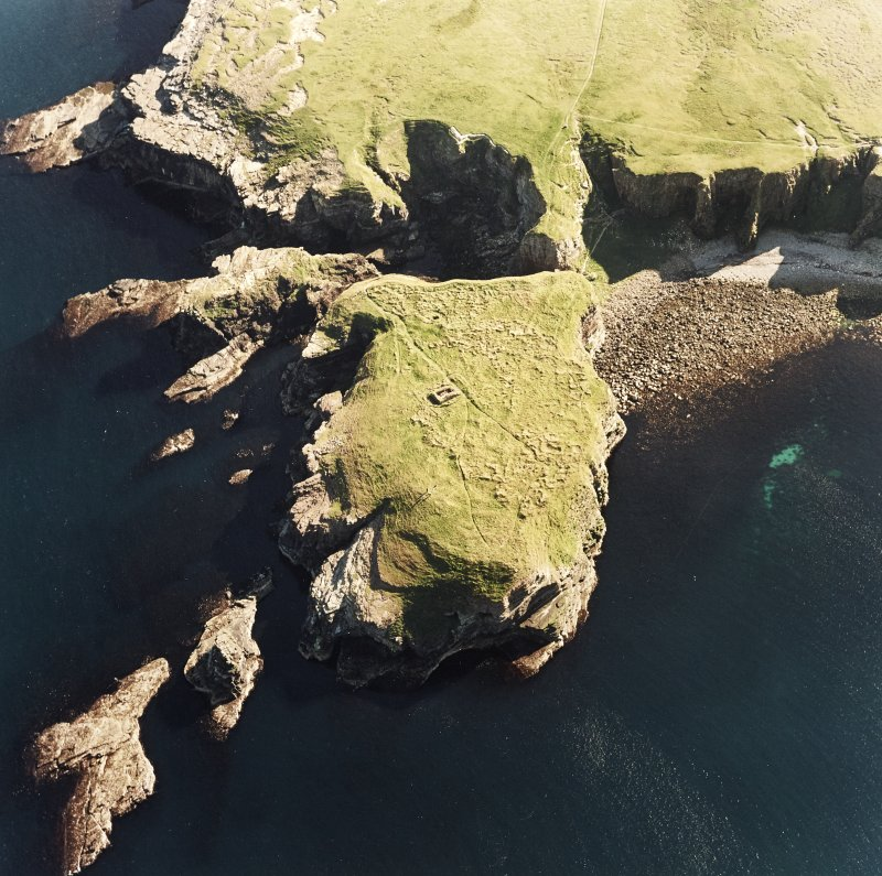 Aerial view of chapel and possible monastic site, taken from the N.