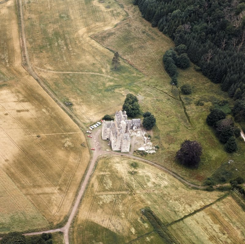 Castle Menzies. Aerial view.