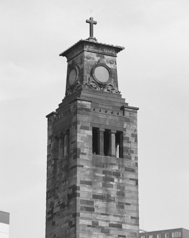 Glasgow, 1 Caledonia Road, Caledonia Road Church View of tower
