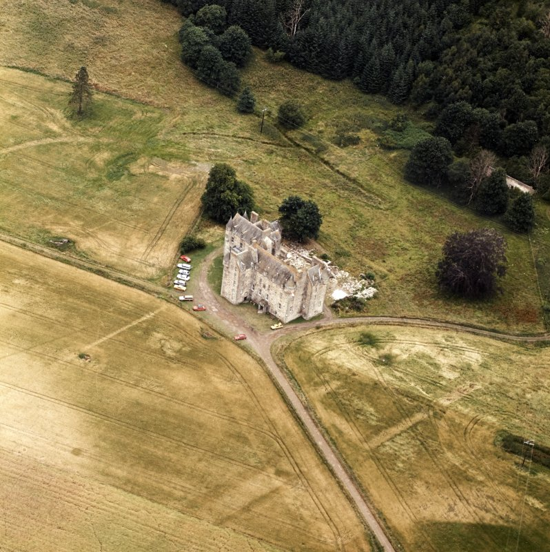 Castle Menzies. Aerial view from East.
