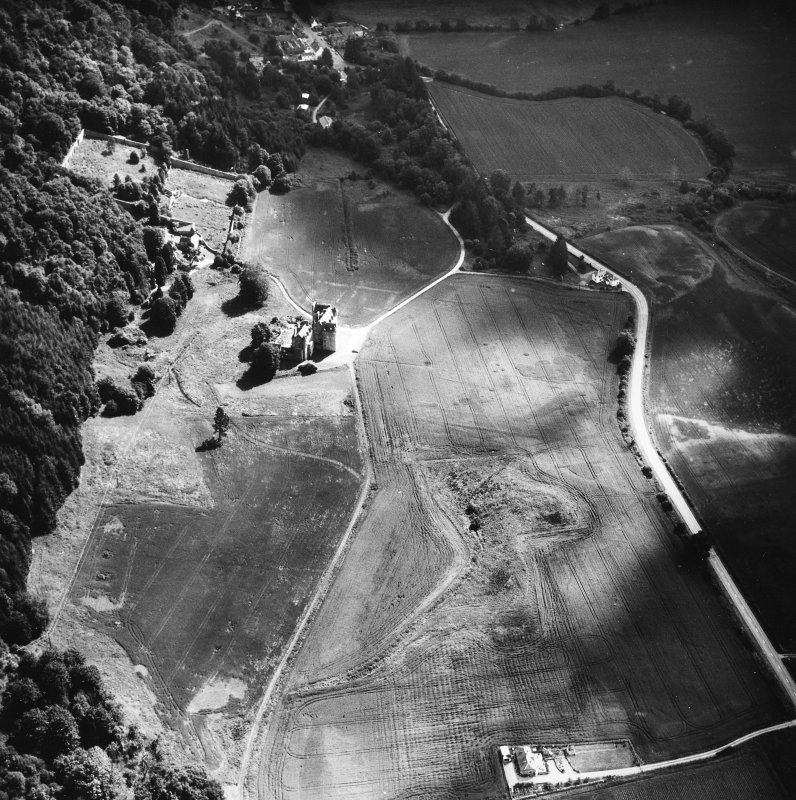 Castle Menzies. Aerial view from South.