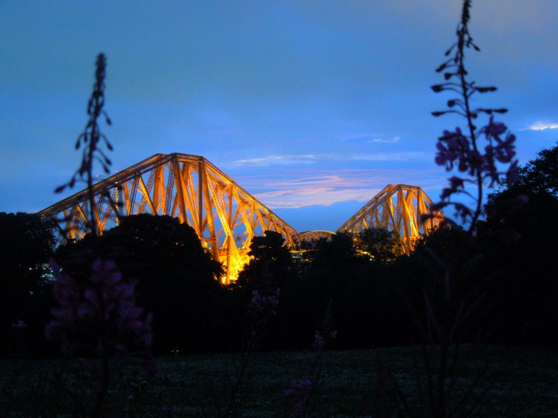 Forth Bridge at night 2016