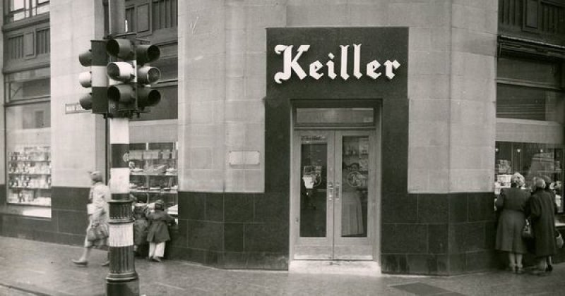 Online sources indicate that the Commercial Bank of Scotland Building on the corner of Hilltown & Main Street became a Keiller Shop & Bakery.
