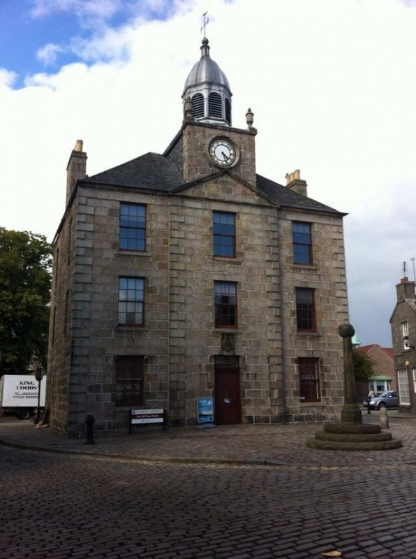 4/8/15-  The former Townhouse- 81 High Street, Old Aberdeen. Architect: George Jaffray. Built c 1788. Designated: 12/1/67- Category A Listed Building.