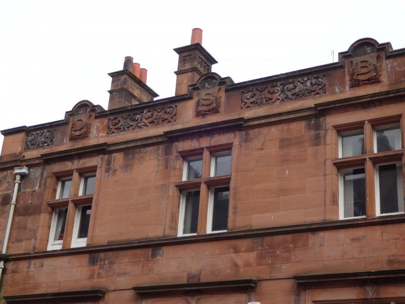 DSB lettering on top of Dundee Savings Bank