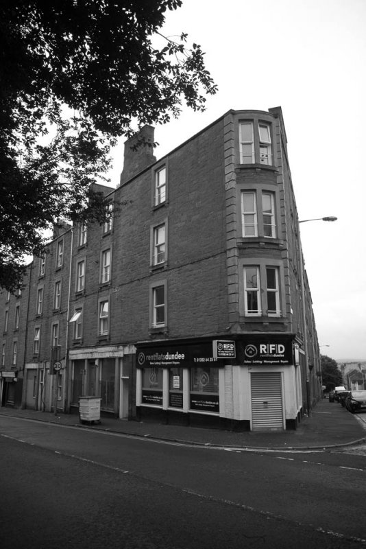 Tenement block at 210 - 216 Blackness Road, Dundee.
