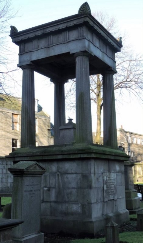 2015- photograph of the commemorative monument to Robert Hamilton pre restoration which took place c May 2018.