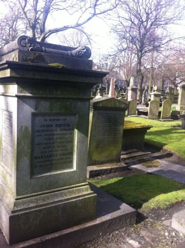 The gravestone of John Smith. Born in 1781- Died July 1852.