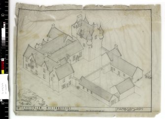 Isometric sketch showing proposed alterations