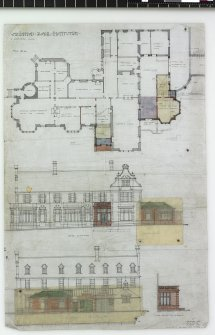 Johnston House. Plans and elevations showing proposed alterations and additions.