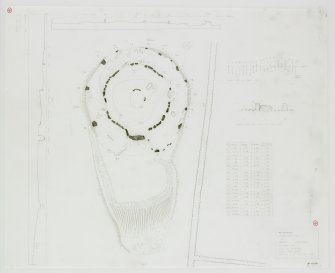 Digital copy of plan of stone circle