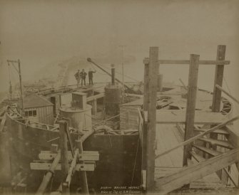 Forth Bridge Works.  No. 76 View of top of SW caisson.