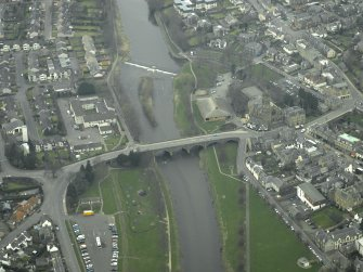 Oblique aerial view centred on Tweed Bridge, taken from the W.