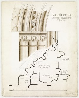 Digital copy of details of S transept.