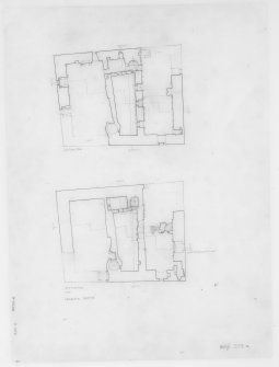 Digital copy of second and third floor plans. Insc: 'Lachlan Castle'.