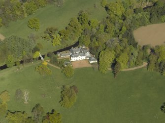 Oblique aerial view centred on Annick Lodge, taken from the SW.