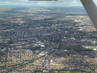 General oblique aerial view of Glasgow centred on the vaiduct, taken from the SSW.