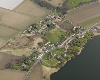 General oblique aerial view centred on the villages, taken from the SW.