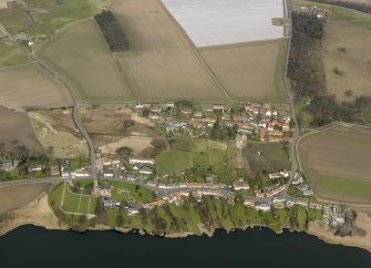 General oblique aerial view centred on the villages, taken from the S.