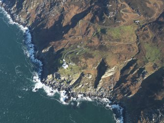 General oblique aerial view centred on the Mull of kintyre lighthouse, taken from the SW.