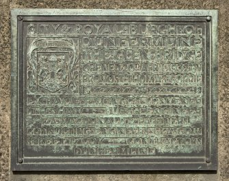 Detail of commerative plaque