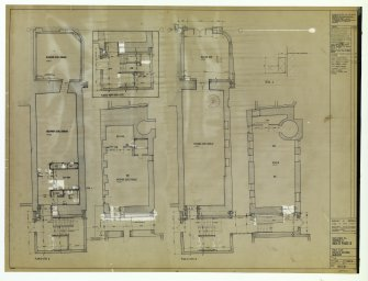 Plans of levels A and B. Museum of Childhood. Uncatalogued original number 965(2-)38.
