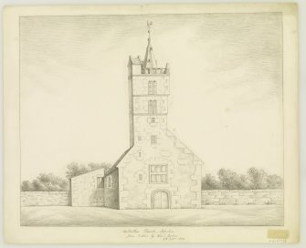 View of West Front. 'from Nature by ALEXr ARCHER, 8th Sept. 1838.'