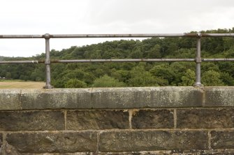 Detail of handrail section on S parapet.